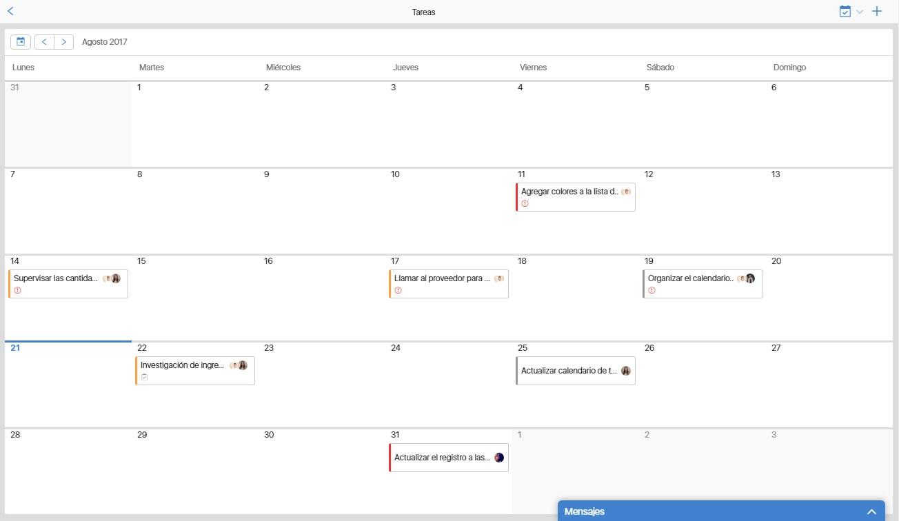 Nueva función: Cómo organizar tareas en un calendario